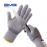 2018 Upgraded Thin Soft New GMG Grey HPPE With Steel CE Certificated Anti-cut Gloves Work Safety Cut Proof Gloves EN388 Anti Cut
