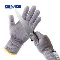 2019 nouvelle HPPE grise molle mince améliorée de GMG avec le CE en acier a certifié l'anti-coupure gants de sécurité de travail de coupe gants EN388 Anti coupe