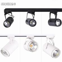 цена на 20W 30W COB LED Track Light Clothing Shop Windows Showrooms Exhibition Spotlight COB LED Ceiling Rail Spot Lamp 85-265V/AC