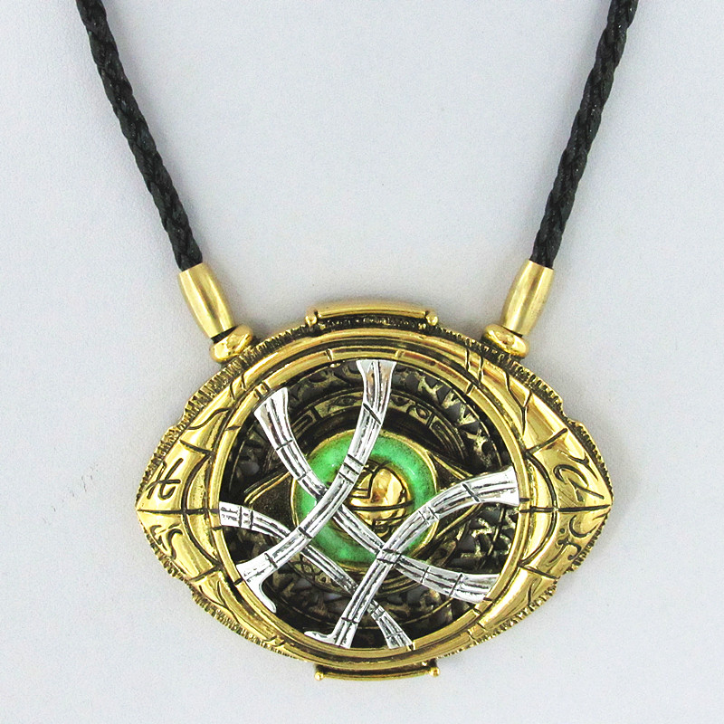 Cosplay Doctor Strange Necklaces  Christmas gift Alloy Necklaces Agamotto 3