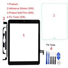 1 шт. сенсорный экран дигитайзер для iPad Air A1474 A1475 A1476 для iPad 9,7(версия) 5th Gen A1822 A1823 Передняя стеклянная панель