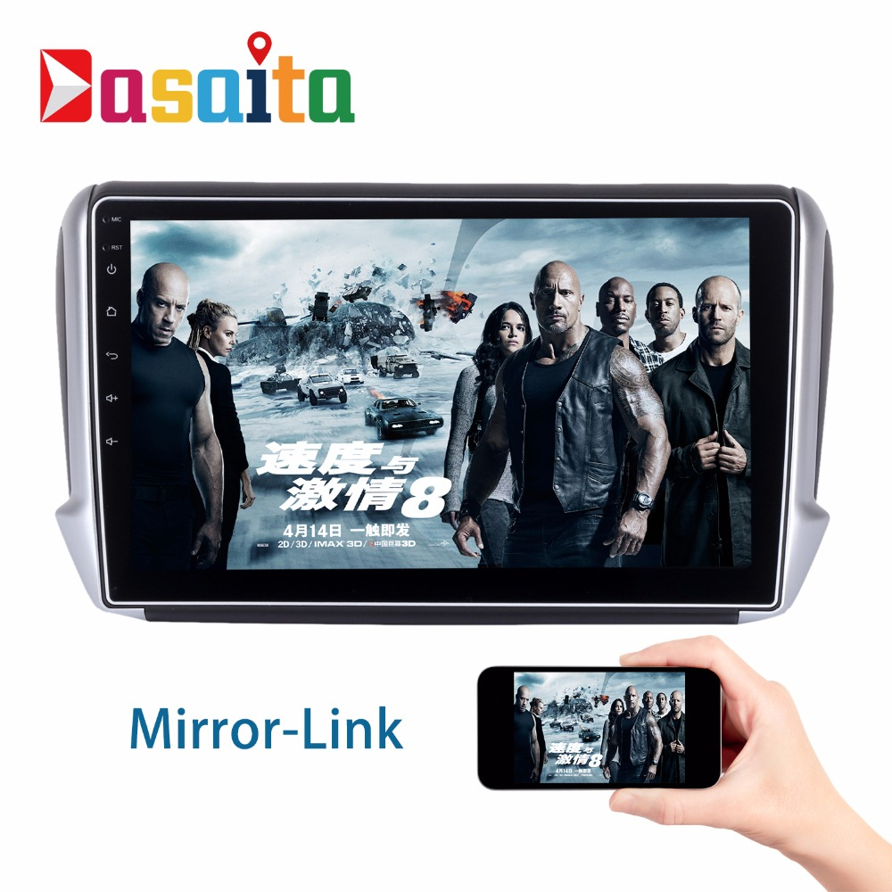 android 6 0 2din car gps player navi for peugeot 208 2008 2012 2016 with 10 2 octa core stereo. Black Bedroom Furniture Sets. Home Design Ideas
