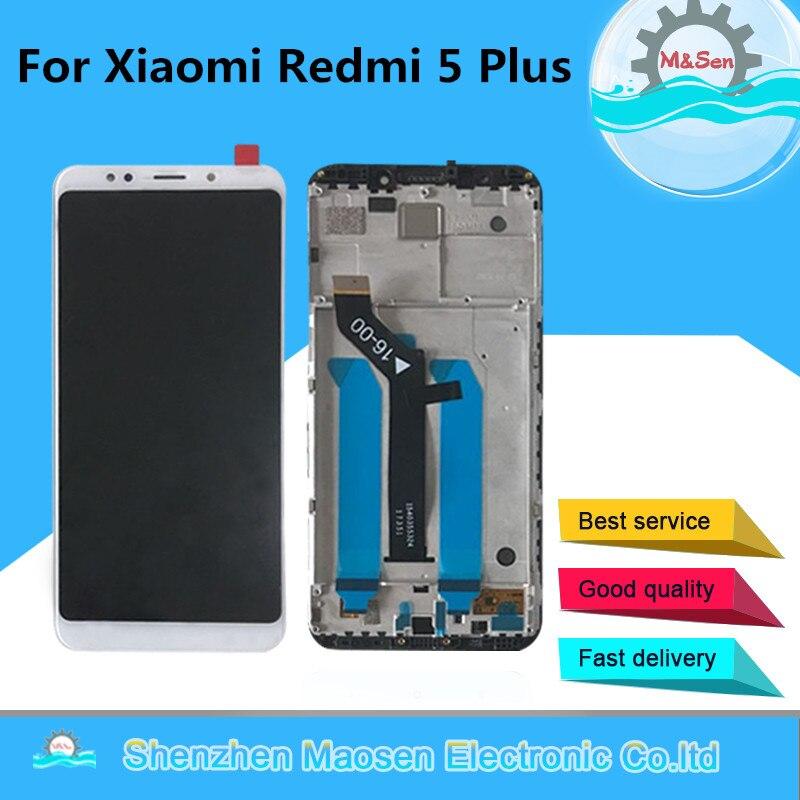 D'origine M & Sen Pour 5.99 Xiaomi Redmi 5 Plus LCD écran tactile digitizer avec cadre pour redmi 5 plus lcd affichage remplacer