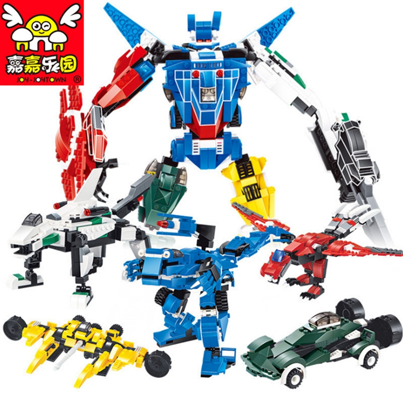 1 Change 3 New Transform Robot Building Blocks Toys for Children Model Building Bricks Transformation Series Robot for Kids Boy full set 3 styles transformation robot series mini bricks toys diy diamond model nano building blocks hot selling children gifts
