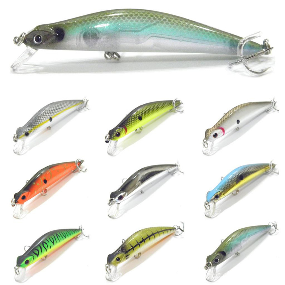 5PCS Fishing Lure Floating Minnow casting trolling Topwater Lures bait hook 11cm/13g Free shipping wldslure 1pc 54g minnow sea fishing crankbait bass hard bait tuna lures wobbler trolling lure treble hook