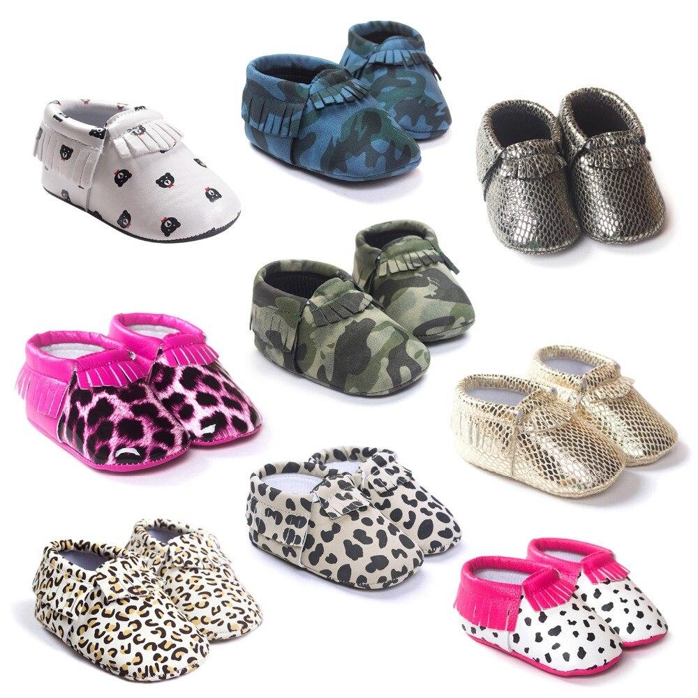 Hot PU Suede Leather Newborn Baby Boy Girl Baby Moccasins Soft Moccs Shoes Bebe Fringe Soft Soled Non-slip Crib Shoe bx312
