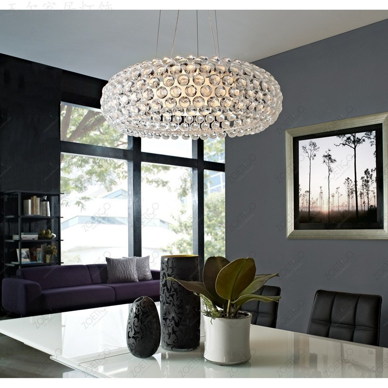 include bulb pendant lights NEW Bedroom Acrylic Kitchen House 50cm Foscarini Caboche Ball Pendant Lamp Bead light ZCL