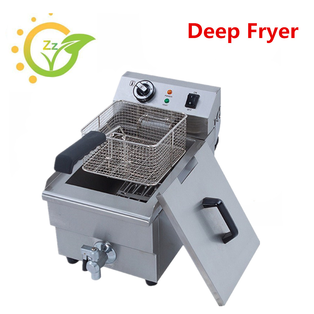 Automatic Electric  Fryer Temperature Control  Deep Fryer Household Multifunction Small Fryer  Single-tank Fryer salter air fryer home high capacity multifunction no smoke chicken wings fries machine intelligent electric fryer