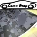 Zwart Grijs Vinyl Film Digitale Camouflage Auto Wrap Folie Digitale Sticker Film Auto Vrachtwagen Motor Scooter Wrapping Decal Air Gratis
