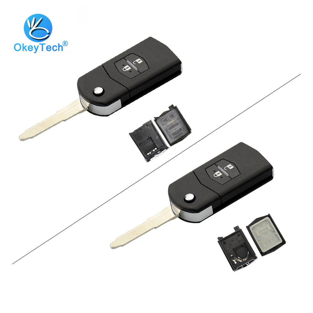 qualitykeylessplus Two Replacement Transponder Chip Keys MZ24PT for Mazda Vehicles with Free KEYTAG