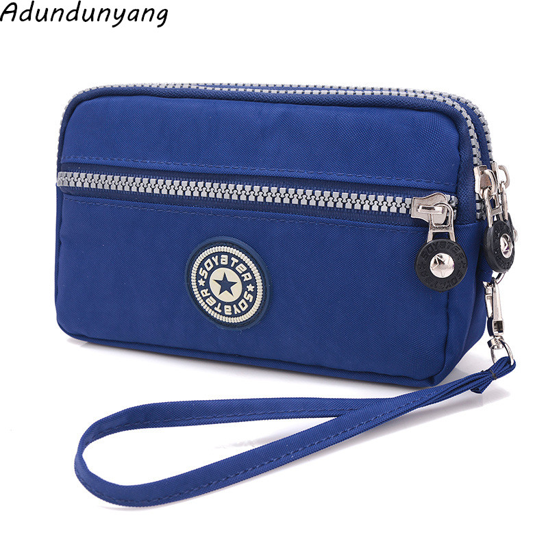 Brand Double Layer Zipper Wallet phone bag Purses Women Money Bag High Quality Waterproof Nylon Clutches Coin Pocket 2017 trend nylon wallet casual zipper purse young novelty designer student money nylon coin id pocket case 5 colors optional