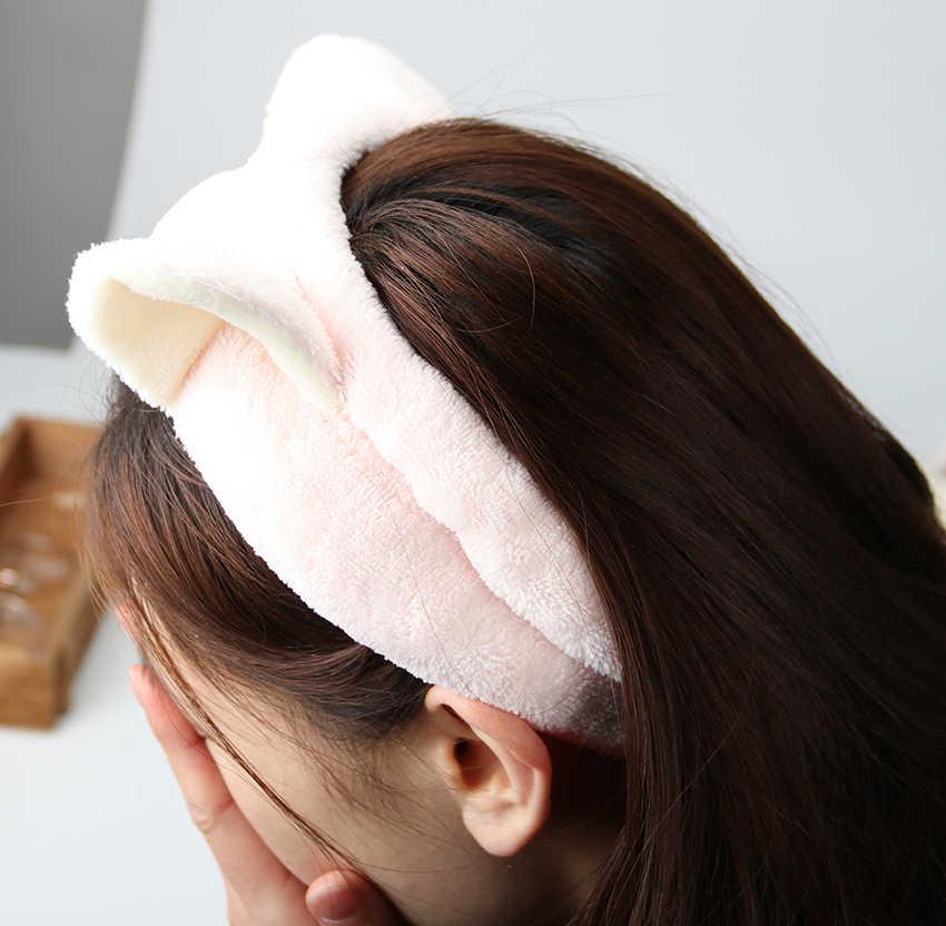 1 шт. милые эластичные ободки с кошачьими ушками для женщин девочек Макияж Уход за лицом повязка на голову повязка для волос повязка на голову для лица аксессуары для волос