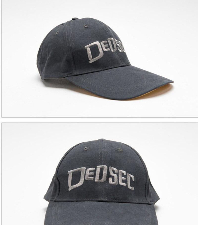 Big Sale2-Head Hat Game-Watch Dedsec Hats-Cap Holloway Baseball Adjustable Cosplay Marcus Dog£