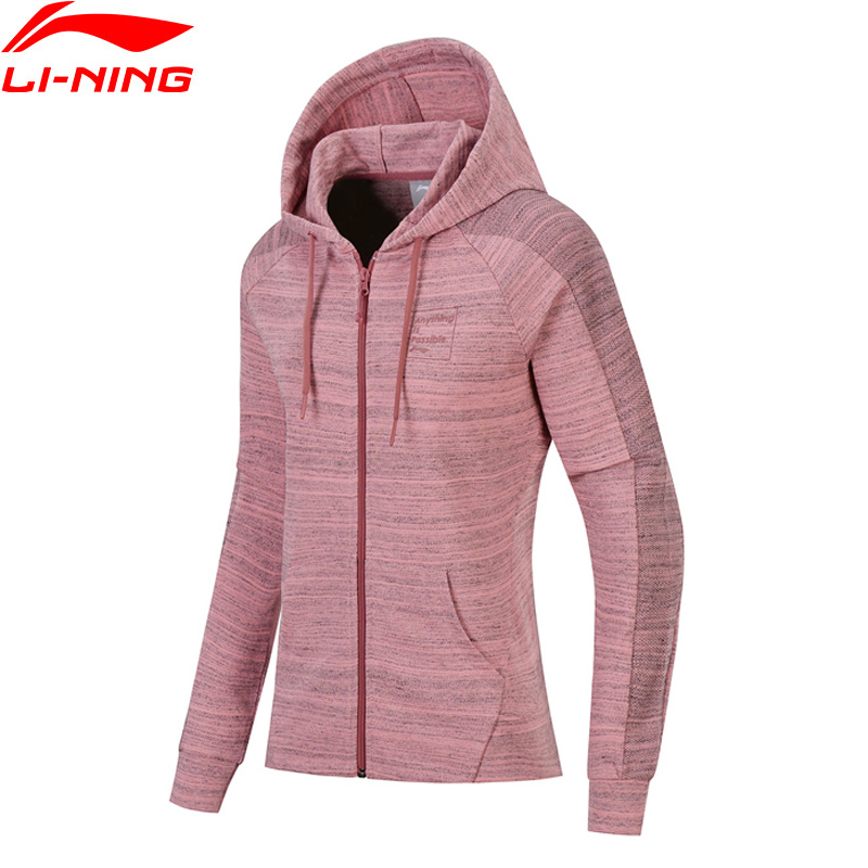 Li-Ning Women FZ Knit Hoodie Sweaters Zip Regular Fit Comfort Jacket Fitness LiNing Sports Sweater AWDN136 WWW966 серьги серьги серьги серьги серьги серьги серьги серьги серьги серьги серьги