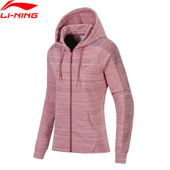 Li-Ning Women FZ Knit Hoodie Sweaters Zip Regular Fit Comfort Jacket Fitness LiNing Sports Sweater AWDN136 WWW966