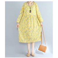 ZJ-PNARL New Arrivals Elegant Women Dresses Autumn Vestidos Casual Print O-neck Full Sleeve Midi Dress 569
