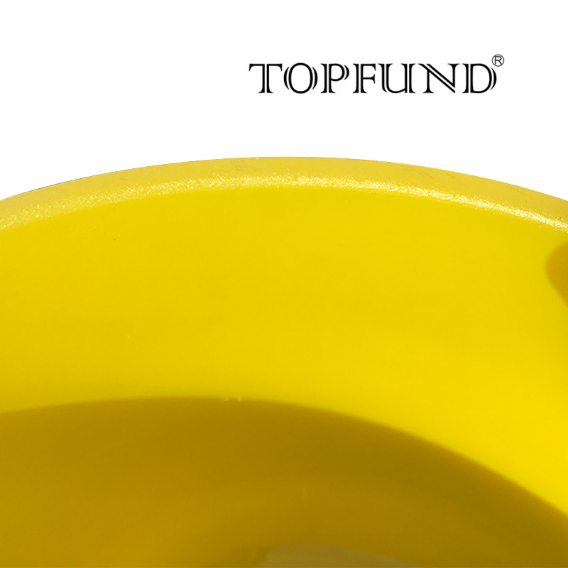 TOPFUND 432hz/perfect pitch E Solar Plexus Chakra Yellow Colored Frosted Quartz Crystal Singing Bowl 10
