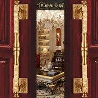 Китайский дверной ручки вспомогательный замок полный медь дверь номера блокировки интерьер спальни дверь твердой древесины вилла замок