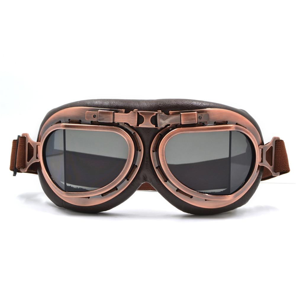 Retro Vintage Helmet Goggle Motorcycle Riding Flying Eyewear Glasses Cafe Racer