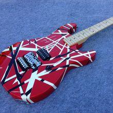 Speical Handmade EVH Electric Guitar JS-45 Good Sound Black And White Stripe fr Bridge цена