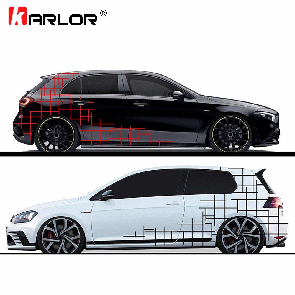1 Set Camo Style Camouflage bande latérale autocollants les deux côtés voiture film d'emballage en vinyle pour voitures Automobiles accessoires de voiture produits