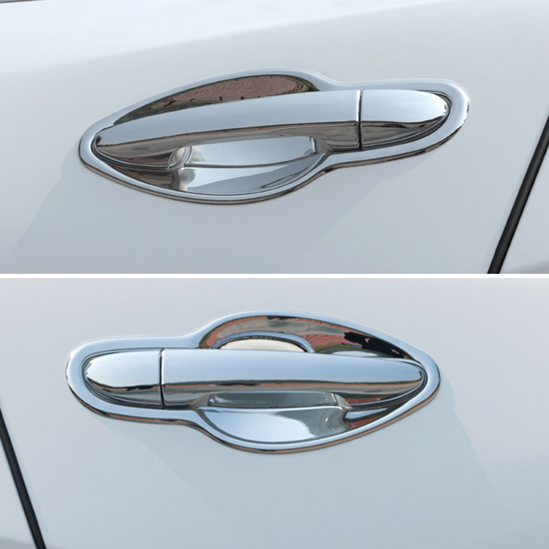 ABS Chrome For <font><b>Mazda</b></font> CX-5 <font><b>CX5</b></font> 2017 2018 <font><b>2019</b></font> Car Exterior Door Handles Cover Car Door Bowl Trim Car Styling <font><b>Accessories</b></font> 8pcs image