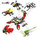 Мир насекомых 5 в 1 Скорпион Здание Сборки Игрушки, Обучающие Игрушки для Детей