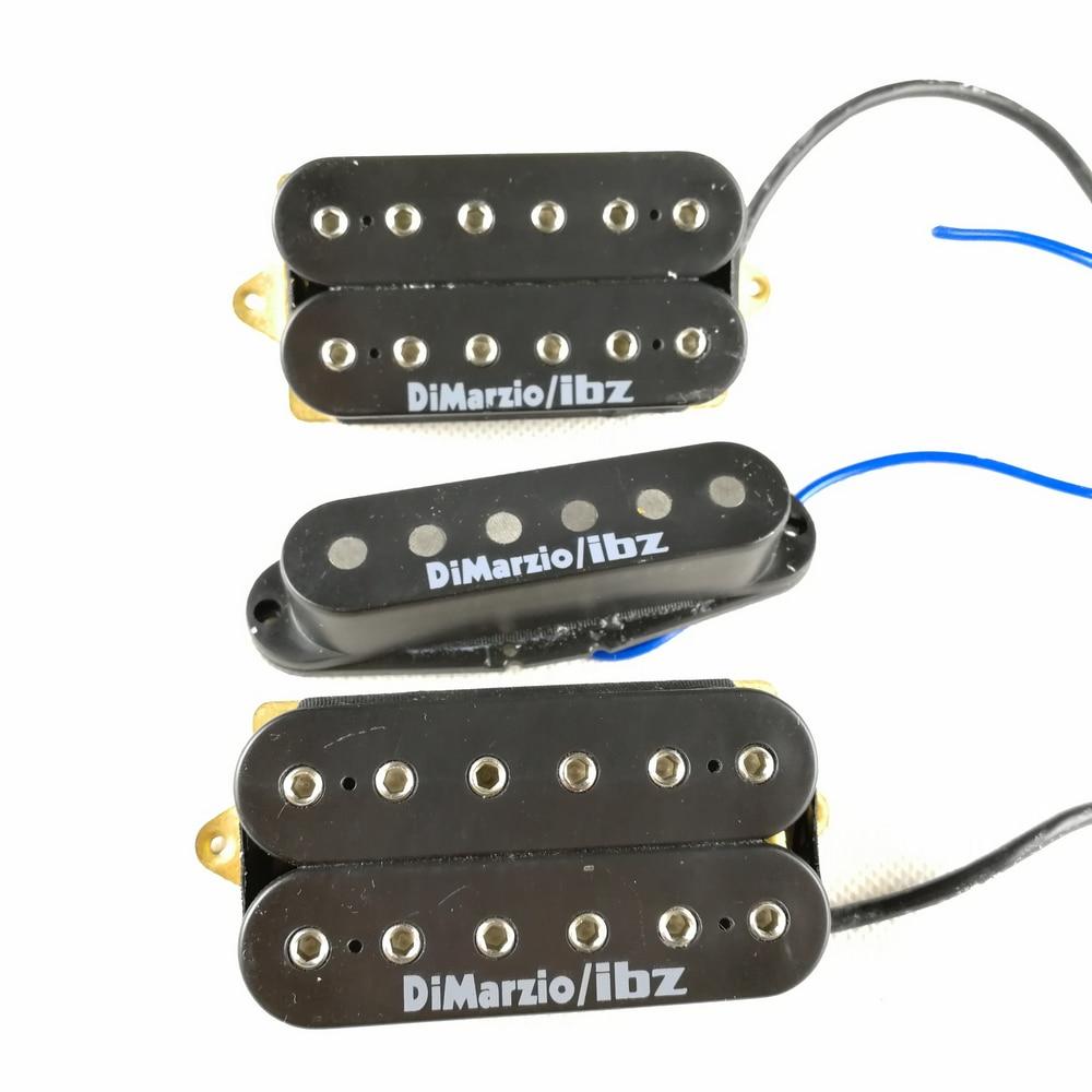 Electric Guitar Humbueker Pickup USA Original 3 Pcs HSH Dimarzio Pickups RG2550 Dimarzio/iba Electric Guitar Pickup 1 Set iba double open 4 string electric bass pickups black