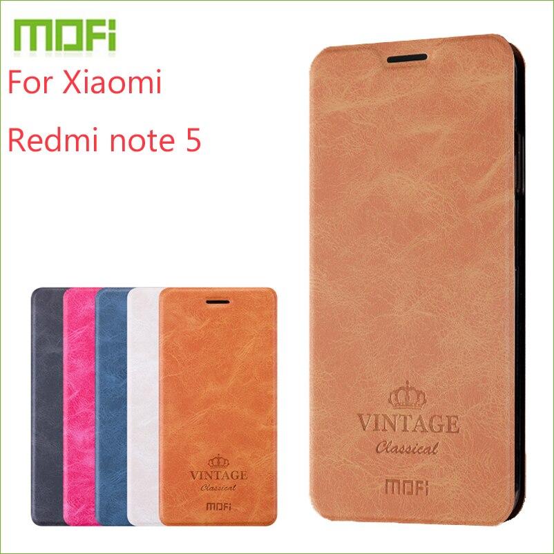 Für Xiaomi redmi note 5 Fall MOFI Flip Fall Für Xiaomi redmi note 5 Hohe Qualität Brieftasche Leder Stehen Abdeckung Für redmi note 5