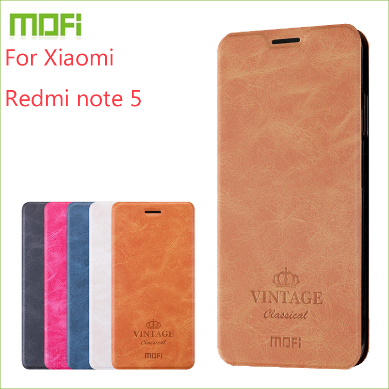 For Xiaomi redmi note 5 Case MOFI Flip Case For Xiaomi redmi note 5 High Quality Wallet Leather Stand Cover For redmi note 5