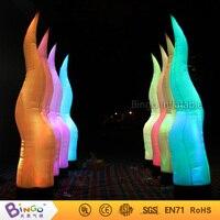 Наружного освещения 2.5 м Высокое надувные трубки освещения infaltable фонарный столб для События/партия/Свадебные украшения