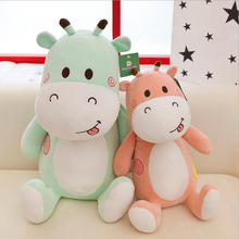 цены New Arrival Lovely Smile Giraffe Short Plush Toy Stuffed Animal Toys Plush Doll Children Birthday Gift