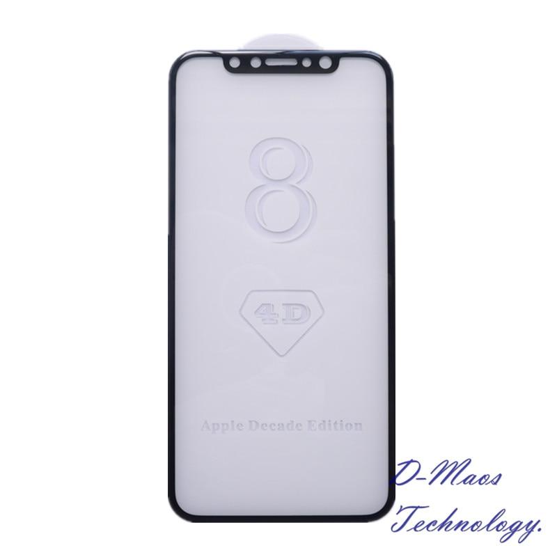 imágenes para Para el iphone 8 Vidrio Templado 4D Clear Rasguño Anti Explosión Superficie Curva Delgado Delgado Protector de la Pantalla Para Apple Década Edición