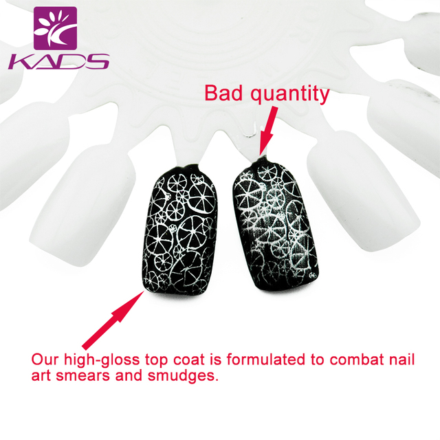 KADS New Design Smudge Resistant Top Coat Nail Art Stamping polish Top Coat,formulated to combat nail art smears and smudges.
