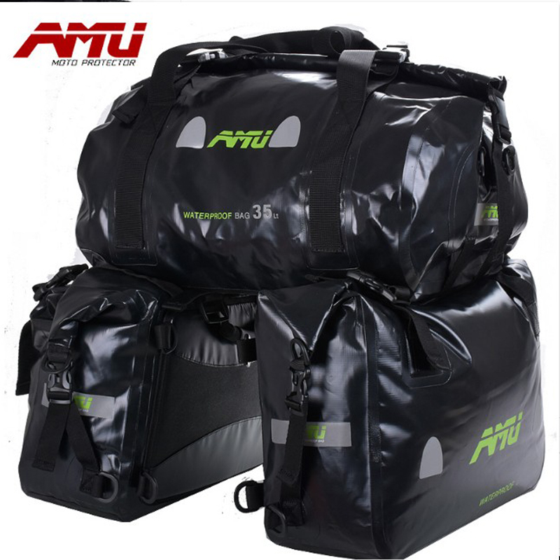 Authentic AMU Motorcycle Bag Saddlebags Waterproof tank bag Racing Riding Motor Helmet Bags Oil Travel Luggage Waterproof Bags cucyma motorcycle bag waterproof moto bag motorbike saddle bags saddle long distance travel bag oil travel luggage case