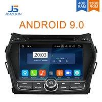 JDASTON Android 9,0 Автомобильный DVD плеер для hyundai IX45/Santa fe 2013 2014 мультимедиа вайфай gps стерео 2 Din автомобильный радиоприемник магнитофон