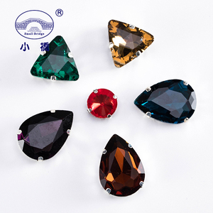 Image 5 - Glitter Crystal Sew On Rhinestone With Claw Diy Colorful Dress Stones Mix Shape Glass Rhinestones For Clothing 50PCS/PACK S037