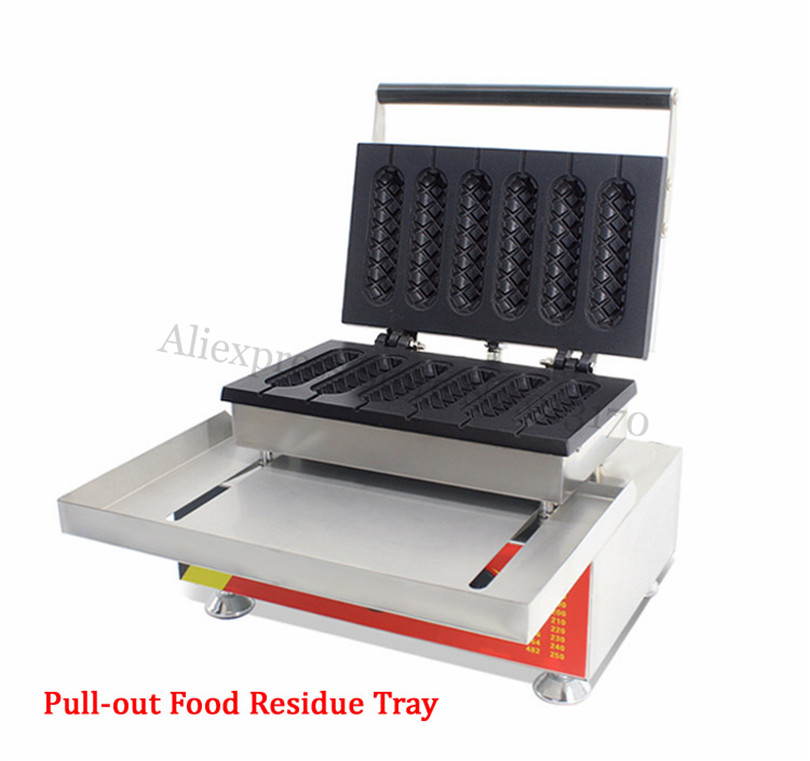Commercial French Hot Dog Waffle Machine Breakfast Street Snack Lolly Hotdog Baker Maker Restaurant Fast Food Device 220V 110V fast food leisure fast food equipment stainless steel gas fryer 3l spanish churro maker machine