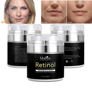 MABOX Rétinol 2.5% Hydratant crème pour visage Anti Vieillissement Acné Acide Hyaluronique Vitamine E et thé vert crème de blanchiment de la peau livraison directe