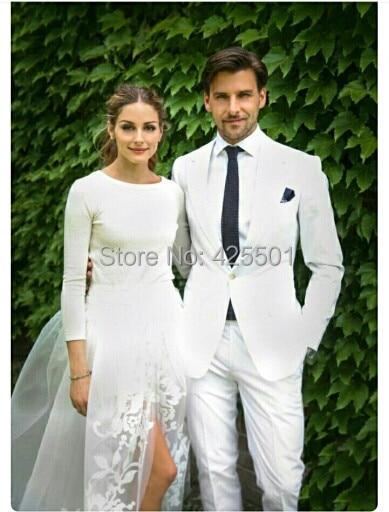 2016 Wedding font b Suits b font For font b Men b font Handsome White font