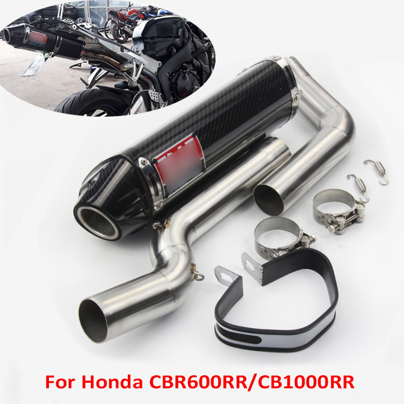 CRB1000RR CBR600RR Motorcycle Exhaust Muffler Silencer Link Connect Tube for Honda CBR1000RR 2004 2007 CBR600RR 2005