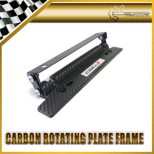 New Adjustable Number License Plate VIOS PRIUS FT86 SCION FRS For TOYOTA TRD Imitation Carbon Car Accessories Styling