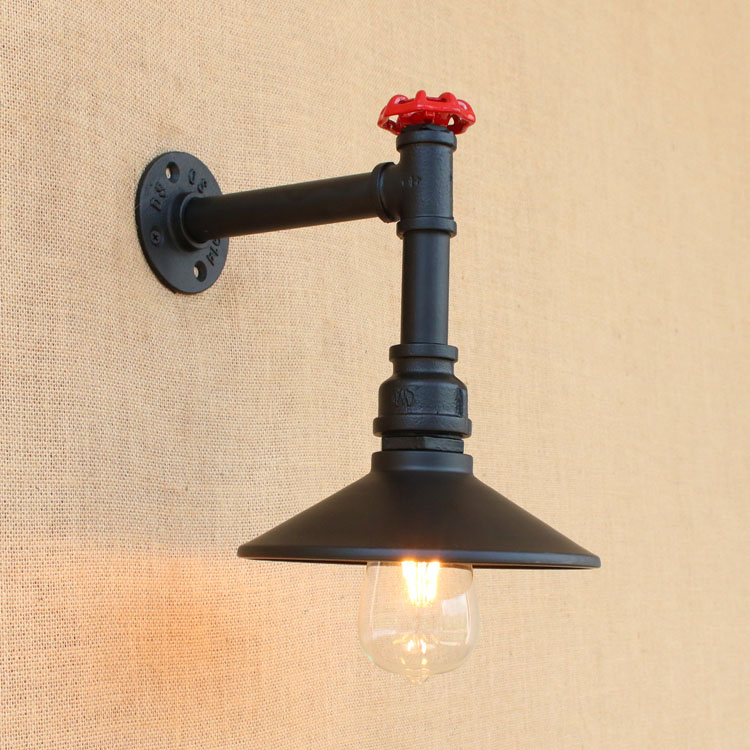 Antique Style Loft Industrial Wall Lamps Retro Vintage Water Pipe Lamp Edison Wall Sconce Appliques Murale Arandela american country retro loft style industrial wall light fixtures appliques murale water pipe lamp vintage wall sconce