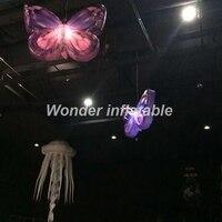 Лидер продаж 2 м светодиодное освещение висит надувные крыло бабочки Для свадебной вечеринки ночной клуб концертную сцену украшения