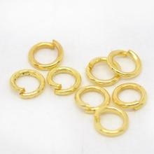 DoreenBeads 1800 PCs da cor do ouro Abrir Ir Anel 4mm de diâmetro. Achados (B00558)