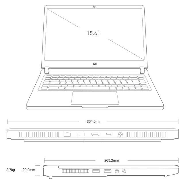 Xiaomi Mi Gaming Notebook 2019 Laptop 15.6 inch Intel Core i5-9300H/i7-9750H GeForce GTX 1660Ti/RTX2060