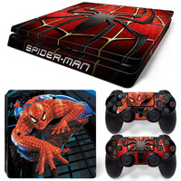 super spider-man great sticker for PS4 slim console and two controller skin covers #TN-P4Slim-0322