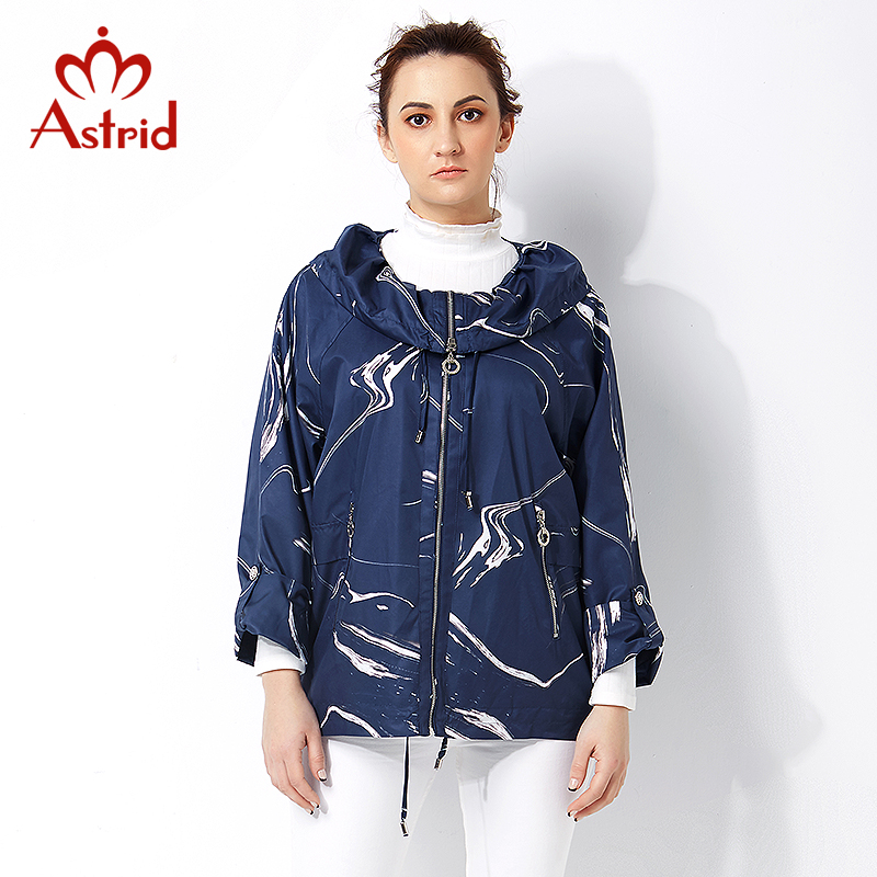 Astrid 2019 High quitly   Trench   Coat for Women Plus Size Women Windbreaker Spring and Autumn Coat Big Size Coat Female AS-2811