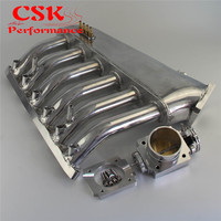 Intake Manifold Plenum +Universal VQ35TPS 80mm Throttle body Fits For BMW E36 E46 M50 M52 M54 325i 328i 323i M3 Z3 E39 528i