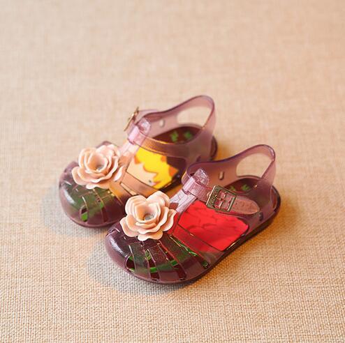 Mini SED Girls Shoes Flower Baby Jelly Shoes Plain Rain Boots Toddler  Children Shoes Children Beach bcf3c3955